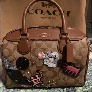 NWT Coach signature crossbody